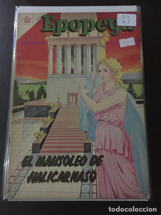 NOVARO EPOPEYA NUMERO 34 NORMAL ESTADO (Tebeos y Comics - Novaro - Epopeya)