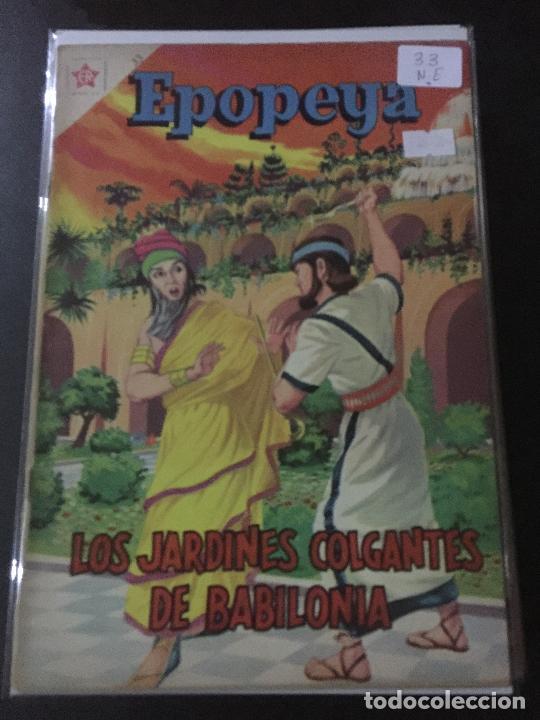 NOVARO EPOPEYA NUMERO 33 NORMAL ESTADO (Tebeos y Comics - Novaro - Epopeya)