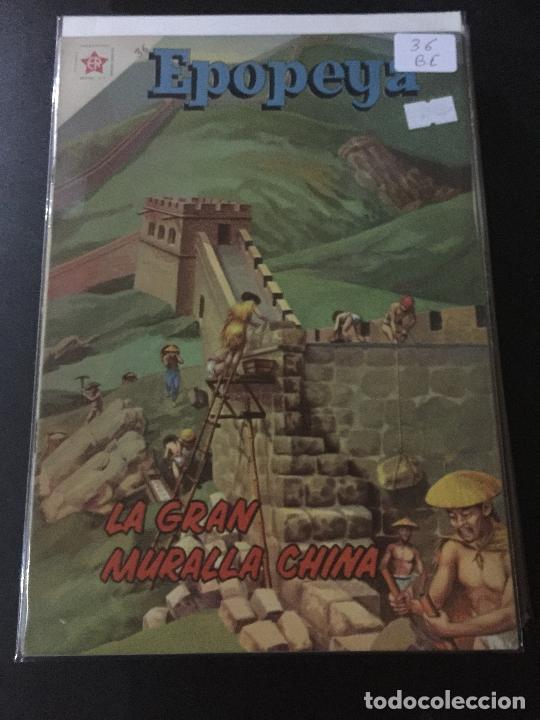 NOVARO EPOPEYA NUMERO 36 BUEN ESTADO (Tebeos y Comics - Novaro - Epopeya)