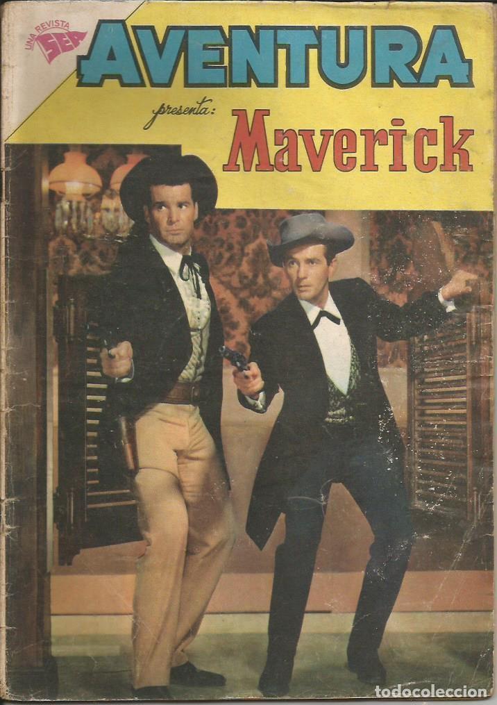 AVENTURA MAVERICK NÚMERO 196 AÑO 1961 LEER DESCRIPCIÓN (Tebeos y Comics - Novaro - Aventura)