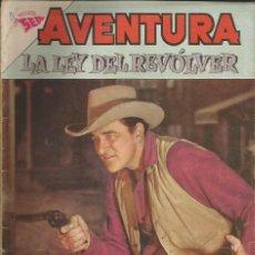 Tebeos: AVENTURA LA LEY DEL REVOLVER NÚMERO 251 AÑO 1962. Lote 226276482