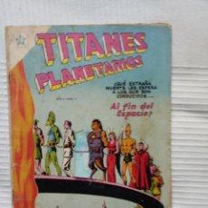 Tebeos: TITANES PLANETARIOS 11. AÑO 1954. NOVARO. MUY DIFÍCIL. Lote 226424965