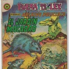 Tebeos: FUERA DE LA LEY PRESENTA: ARCHIVO POLICIACO - AÑO II, Nº. 83 - NOV. 23 DE 1973 ** EDITORIAL NOVARO**. Lote 226452835