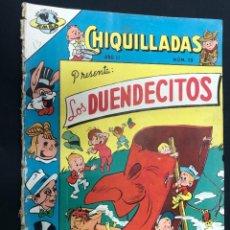 Tebeos: COMIC CHIQUILLADAS Nº 13 LOS DUENDECITOS EDITORIAL NOVARO PROCEDE ENCUADERNACION. Lote 226601035