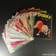 Livros de Banda Desenhada: LOTE 19 EJEMPLARES PORKY Y SUS AMIGOS SEA NOVARO DESDE 1959 A 1966. Lote 226761560