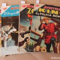 Livros de Banda Desenhada: AVENTURA 29 KING 70 ZORRO 90 SARGENTO PRESTON 119 HAZAÑAS DEL OESTE - ED. NOVARO - TAMBIÉN SUELTOS. Lote 226796295