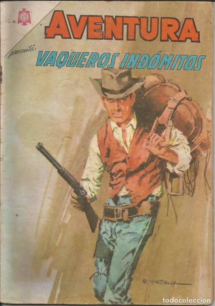 AVENTURA VAQUEROS INDÓMITOS NUMERO 424 1966 LEER DESCRIPCIÓN (Tebeos y Comics - Novaro - Aventura)