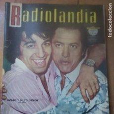 Tebeos: RADIOLANDIA ESPECIAL ARGENTINA 1967 SANDRO Y PALITO ORTEGA Y MAS ACTORES ARGENTINOS 100 PAG.. Lote 228070090