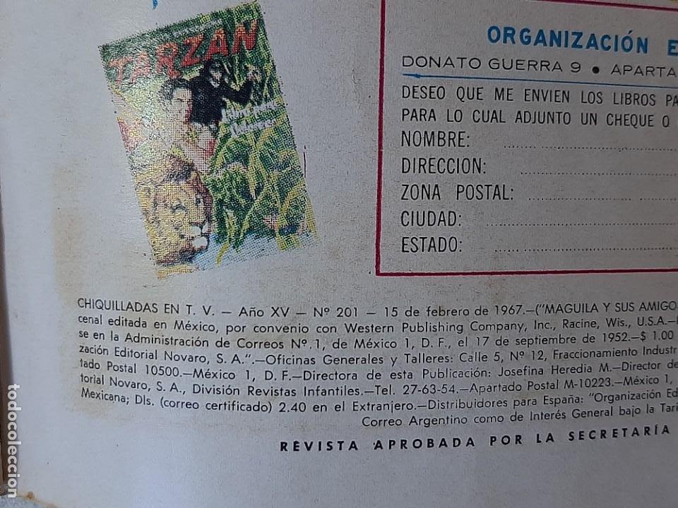 Tebeos: NOVARO : CHIQUILLADAS EN TV Nº 201 - MAGUILA Y SUS AMIGOS - ED. NOVARO AÑO 1967 - Foto 9 - 228086245