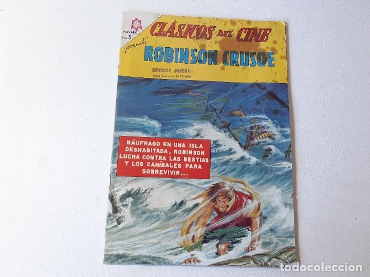 NOVARO : CLASICOS DEL CINE Nº 124 - ROBINSON CRUSOE - ED. NOVARO AÑO 1967 (Tebeos y Comics - Novaro - Otros)