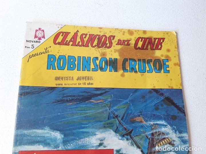 Tebeos: NOVARO : CLASICOS DEL CINE Nº 124 - ROBINSON CRUSOE - ED. NOVARO AÑO 1967 - Foto 2 - 228086580