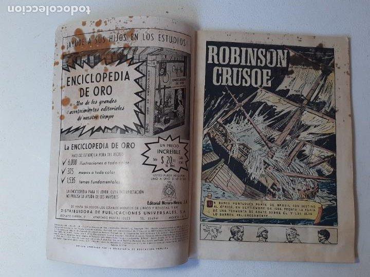 Tebeos: NOVARO : CLASICOS DEL CINE Nº 124 - ROBINSON CRUSOE - ED. NOVARO AÑO 1967 - Foto 4 - 228086580