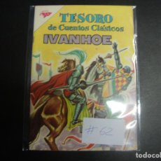 Tebeos: TESORO DE CUENTOS CLÁSICOS # 62 IVANHOE. Lote 228118480