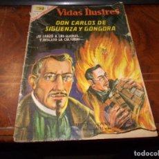 Livros de Banda Desenhada: VIDAS ILUSTRES DON CARLOS DE SIGÜENZA Y GÓNGORA, AÑO XII Nº 160, 15-ABRIL-1967, DEFECTOS. Lote 228419330