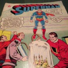 Tebeos: SUPERMAN 406.EDITORIAL NOVARO. AÑO 1963. DOBLE PORTADA Y CONTRAPORTADA ORIGINAL.. Lote 229575095
