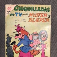 Tebeos: CHIQUILLADAS EN TV. NUPPER Y BLAPER, EDITORIAL NOVARO. AÑO XII NO.141 (A.1964). Lote 230438360