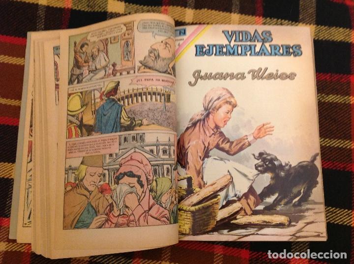 VIDAS EJEMPLARES DE NOVARO TOMO DE ENCUADERNACIÓN CASERA CON 14 NUMEROS (Tebeos y Comics - Novaro - Vidas ejemplares)