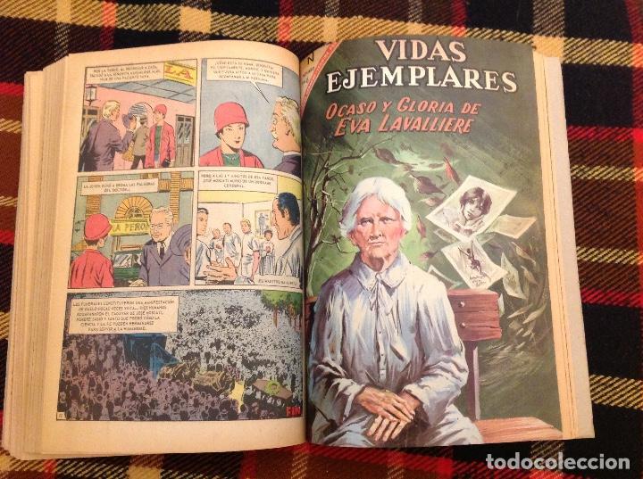 Tebeos: VIDAS EJEMPLARES DE NOVARO TOMO DE ENCUADERNACIÓN CASERA CON 14 NUMEROS - Foto 2 - 230875490