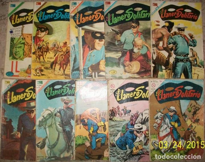NOVARO EL LLANERO SOLITARIO LOTE DE 10 NUMEROS DIFERENTES (Tebeos y Comics - Novaro - El Llanero Solitario)
