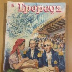 Tebeos: EPOPEYA N º 5. EDITORIAL NOVARO, 1958. NELSON, EL HEROE DE TRAFALGAR.. Lote 231261650