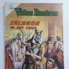 Tebeos: VIDAS ILUSTRES Nº 127 - SALOMÓN EL REY SABIO - ORIGINAL EDITORIAL NOVARO. Lote 231832380