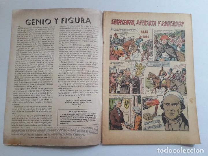 Tebeos: Vidas ilustres nº 122 - Sarmiento patriota y educador - original editorial Novaro - Foto 2 - 231834630