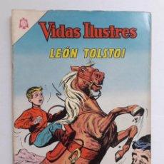 Tebeos: VIDAS ILUSTRES Nº 107 - LEÓN TOLSTOI - ORIGINAL EDITORIAL NOVARO. Lote 231836635