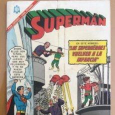 Tebeos: SUPERMAN, Nº 569. EDITORIAL NOVARO, 1965. LOS SUPERHEROES VUELVEN A LA INFANCIA. Lote 231847805