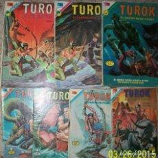 Livros de Banda Desenhada: NOVARO TUROK LOTE DE 7 NUMEROS DIFERENTES. Lote 232343875