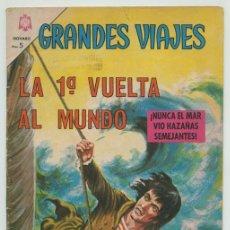 Tebeos: GRANDES VIAJES - Nº 36 - LA 1ª VUELTA AL MUNDO - ED. NOVARO - 1966. Lote 232719480