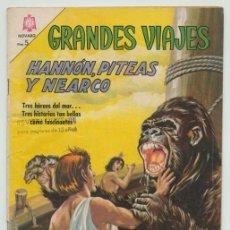Tebeos: GRANDES VIAJES - Nº 41 - HANNÓN, PITEAS Y NEARCO - ED. NOVARO - 1966. Lote 232720000
