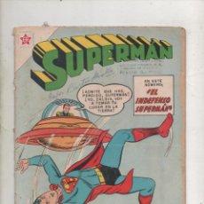 Tebeos: SUPERMAN Nº 262. EL INDEFENSO SUPERMAN. EDITORIAL NOVARO 1960. Lote 234469175