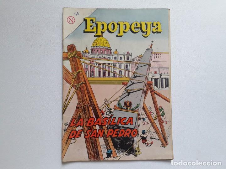 EPOPEYA Nº 70 - LA BASÍLICA DE SAN PEDRO - ORIGINAL EDITORIAL NOVARO (Tebeos y Comics - Novaro - Epopeya)