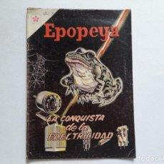 Tebeos: EPOPEYA Nº 62 - LA CONQUISTA DE LA ELECTRICIDAD - ORIGINAL EDITORIAL NOVARO. Lote 234481220