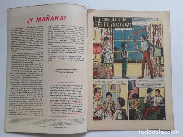Tebeos: Epopeya nº 62 - La conquista de la electricidad - original editorial Novaro - Foto 2 - 234481220