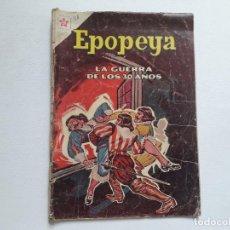 Tebeos: EPOPEYA Nº 58 - LA GUERRA DE LOS 30 AÑOS - ORIGINAL EDITORIAL NOVARO. Lote 234481580