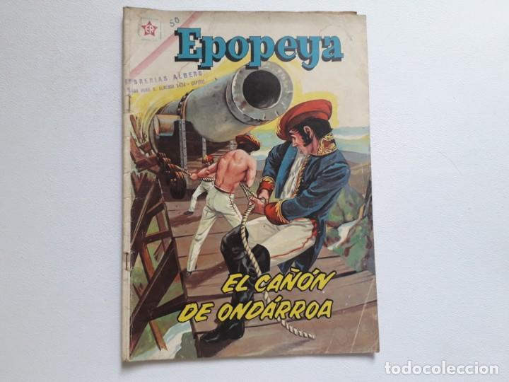 EPOPEYA Nº 50 - EL CAÑÓN DE ONDÁRROA - ORIGINAL EDITORIAL NOVARO (Tebeos y Comics - Novaro - Epopeya)