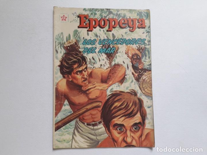 EPOPEYA Nº 49 - LOS VENCEDORES DEL MAR - ORIGINAL EDITORIAL NOVARO (Tebeos y Comics - Novaro - Epopeya)