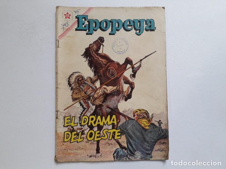 EPOPEYA Nº 45 - EL DRAMA DEL OESTE - ORIGINAL EDITORIAL NOVARO (Tebeos y Comics - Novaro - Epopeya)