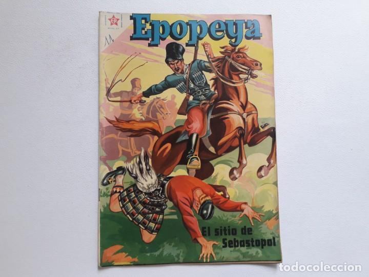 EPOPEYA Nº 11 - EL SITIO DE SEBASTOPOL - ORIGINAL EDITORIAL NOVARO (Tebeos y Comics - Novaro - Epopeya)