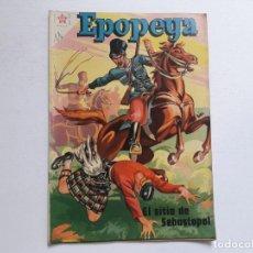 Tebeos: EPOPEYA Nº 11 - EL SITIO DE SEBASTOPOL - ORIGINAL EDITORIAL NOVARO. Lote 234568075