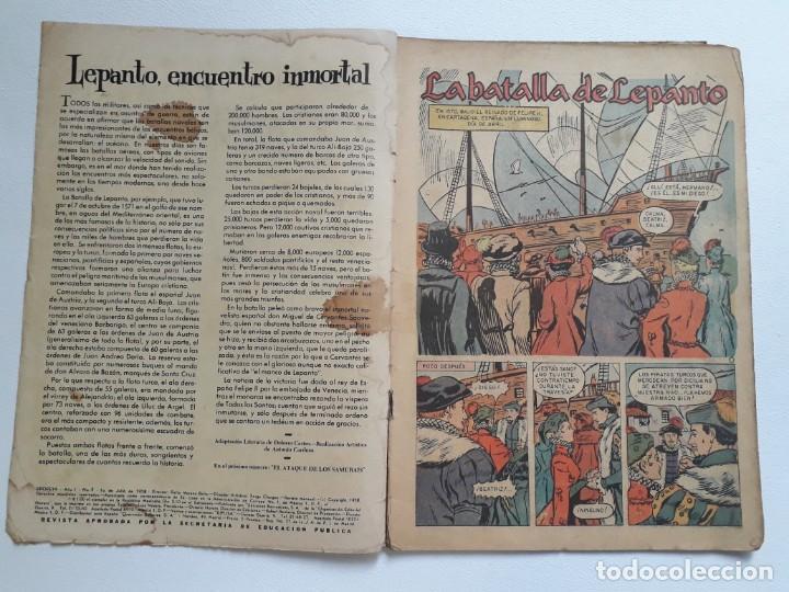 Tebeos: Epopeya nº 2 - La batalla de Lepanto - original editorial Novaro - Foto 2 - 234569155