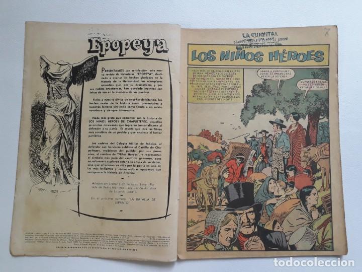 Tebeos: Epopeya nº 1 - Los niños héroes - original editorial Novaro - Foto 2 - 234569470