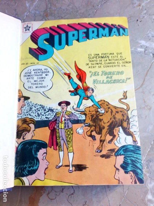SUPERMAN TOMO CON 10 NÚMEROS MUY BAJOS Y 3 CÓMICS ORIGINALES EN INGLÉS NOVARO (Tebeos y Comics - Novaro - Superman)