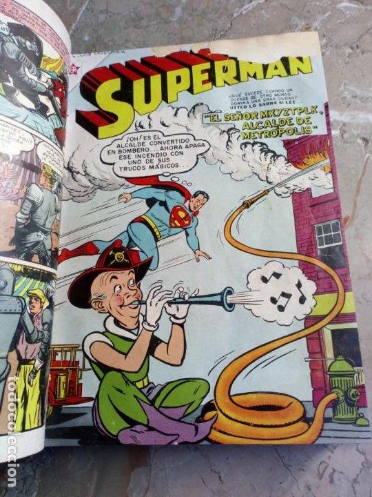 SUPERMAN TOMO CON 8 CÓMICS SUPERMAN Y 3 CÓMICS SUPERMÁN Y SUS AMIGOS NÚMEROS BAJOS NOVARO (Tebeos y Comics - Novaro - Superman)