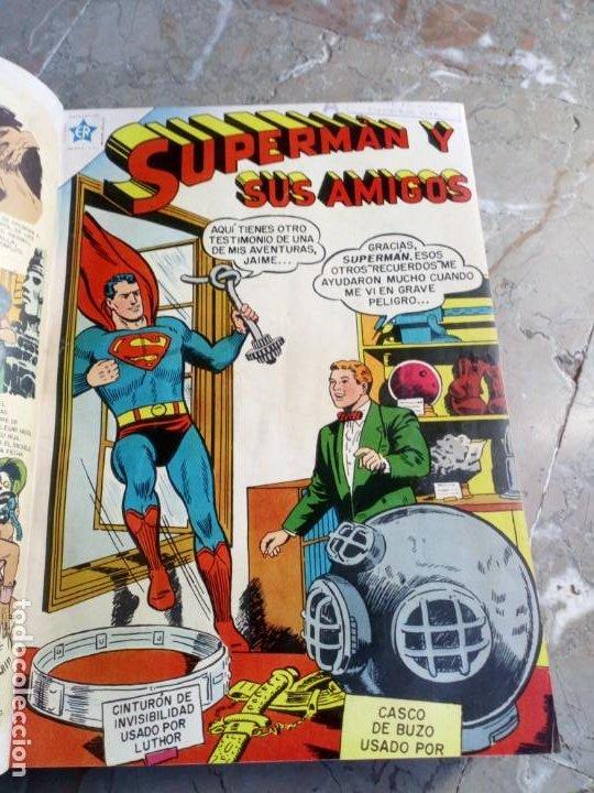 SUPERMAN TOMO CON 13 CÓMICS SUPERMAN Y 5 CÓMICS SUPERMÁN Y SUS AMIGOS NÚMEROS MUY BAJOS NOVARO (Tebeos y Comics - Novaro - Superman)