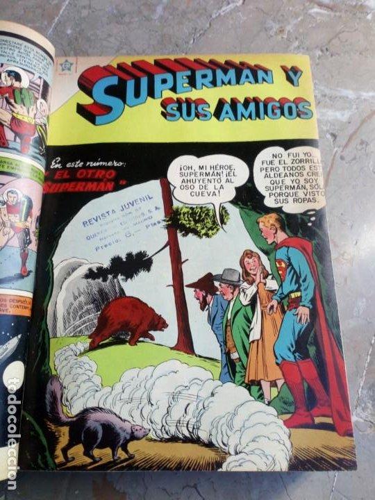 Tebeos: Superman Tomo con 13 cómics Superman y 5 cómics Supermán y sus Amigos Números Muy Bajos NOVARO - Foto 5 - 236185425