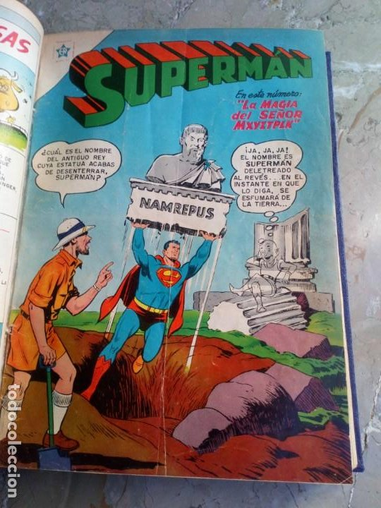 Tebeos: Superman Tomo con 13 cómics Superman y 5 cómics Supermán y sus Amigos Números Muy Bajos NOVARO - Foto 9 - 236185425