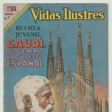 Tebeos: VIDAS ILUSTRES - Nº 209 - ANTONIO GAUDI, ARQUITECTO GENIAL - ED. NOVARO - 1969. Lote 236513360