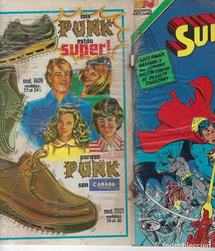Tebeos: SUPERMAN - SERIE AVESTRUZ: AÑO XI - Nº 3 - 134 - 11 DE NOVIEMBRE DE 1983 *** EDITORIAL NOVARO *** - Foto 3 - 238765250